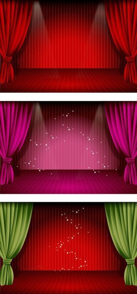 stage curtain clipart in ai svg eps