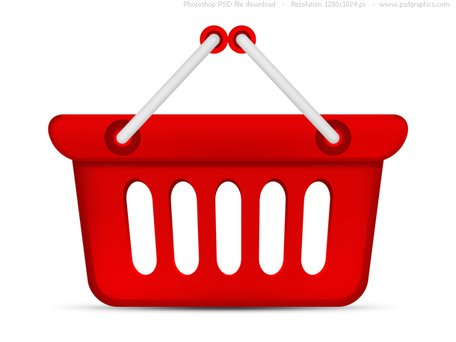 PSD red shopping basket icon, Vector Image - Clipart.me
