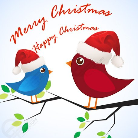 Download Free Merry Christmas Love birds Clipart and Vector ...