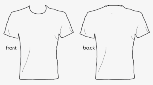 Plain White T Shirt Back And Front Png