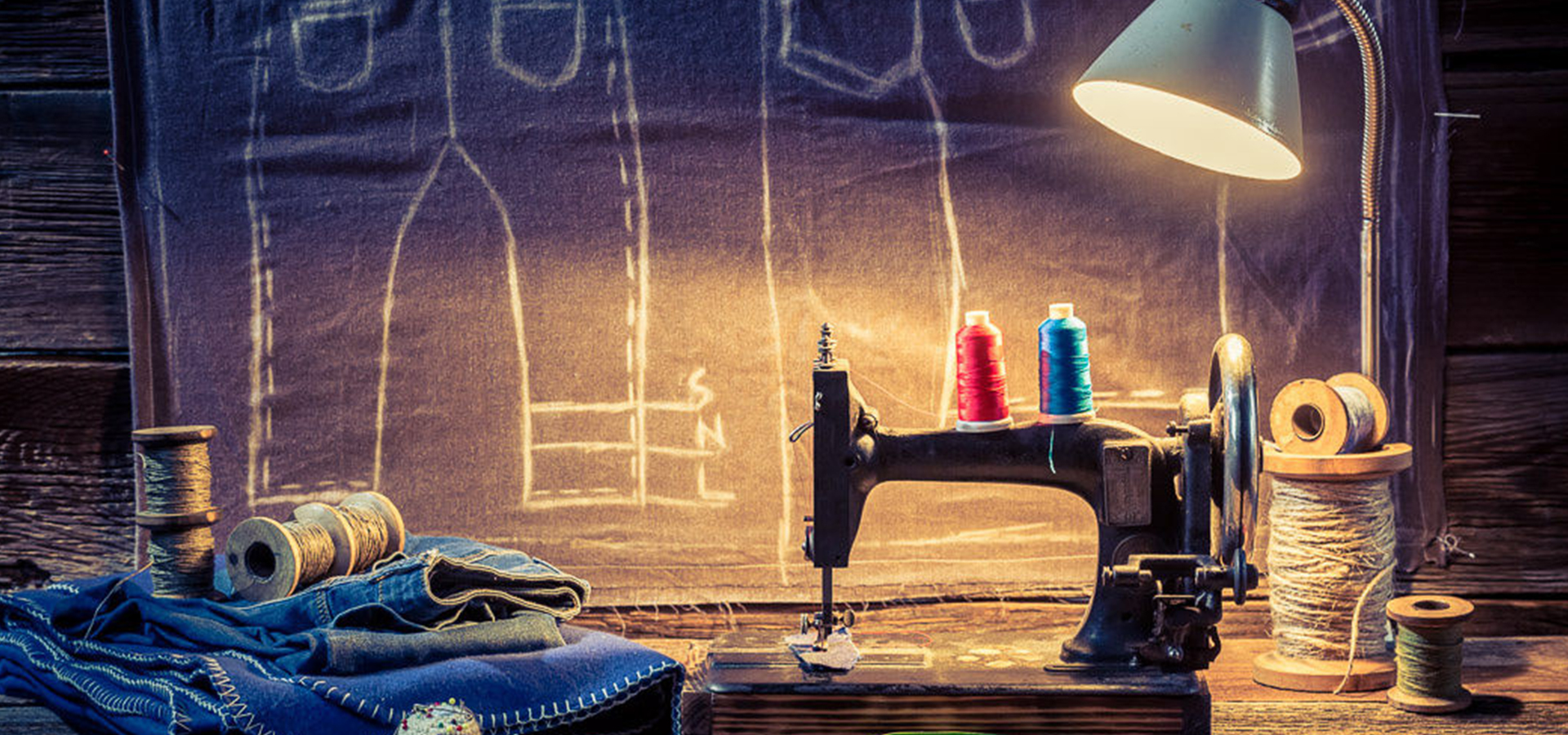 Sewing Background Sewing Machine Woolen Background