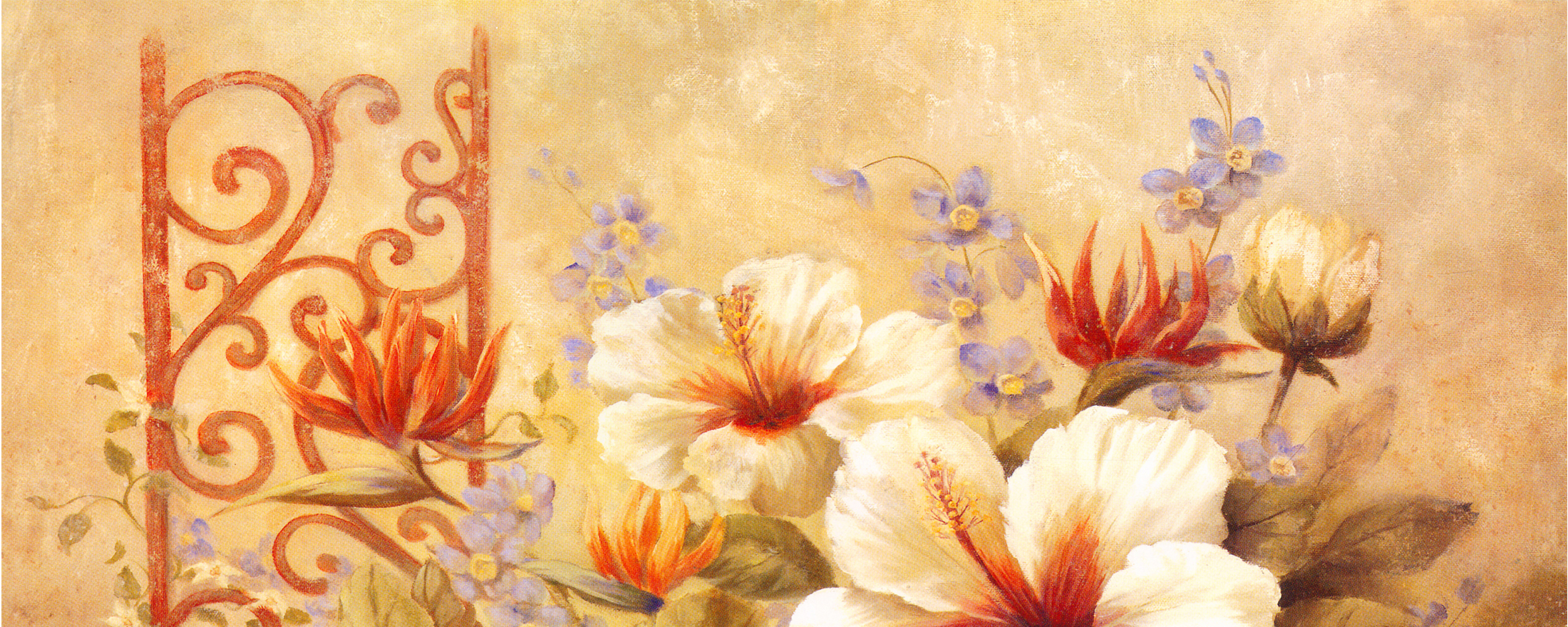 Taobao Station Oil Painting Flower Background Painting Flowers Poster Background Image For