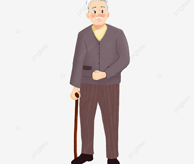 Cute Old Man Standing On The Whole Body Cute Clipart Man Clipart Smiling