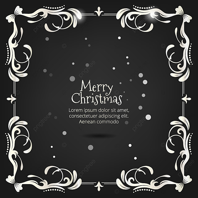 https fr pngtree com freepng vintage christmas black and white greeting card with floral decoration 3531550 html
