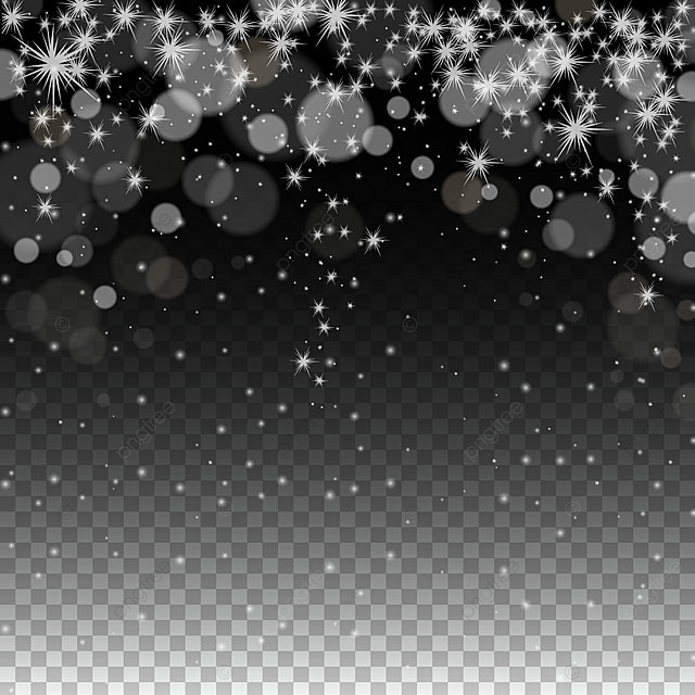 Classic Bokeh And Stars Transparent Background Classic