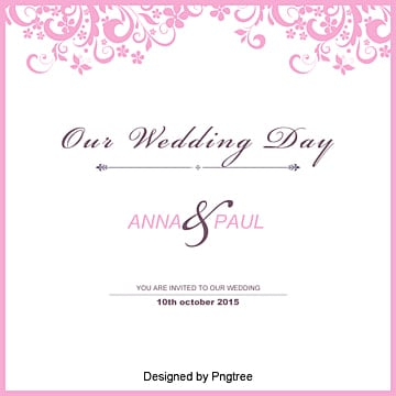 Wedding Invitation Template Free Marry Marriage Certificate Card Png And Vector