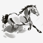 Beautiful Running Horse Run Horse Horse Clipart Black And White Hand Painted Cartoon Png Transparent Clipart Image And Psd File For Free Download