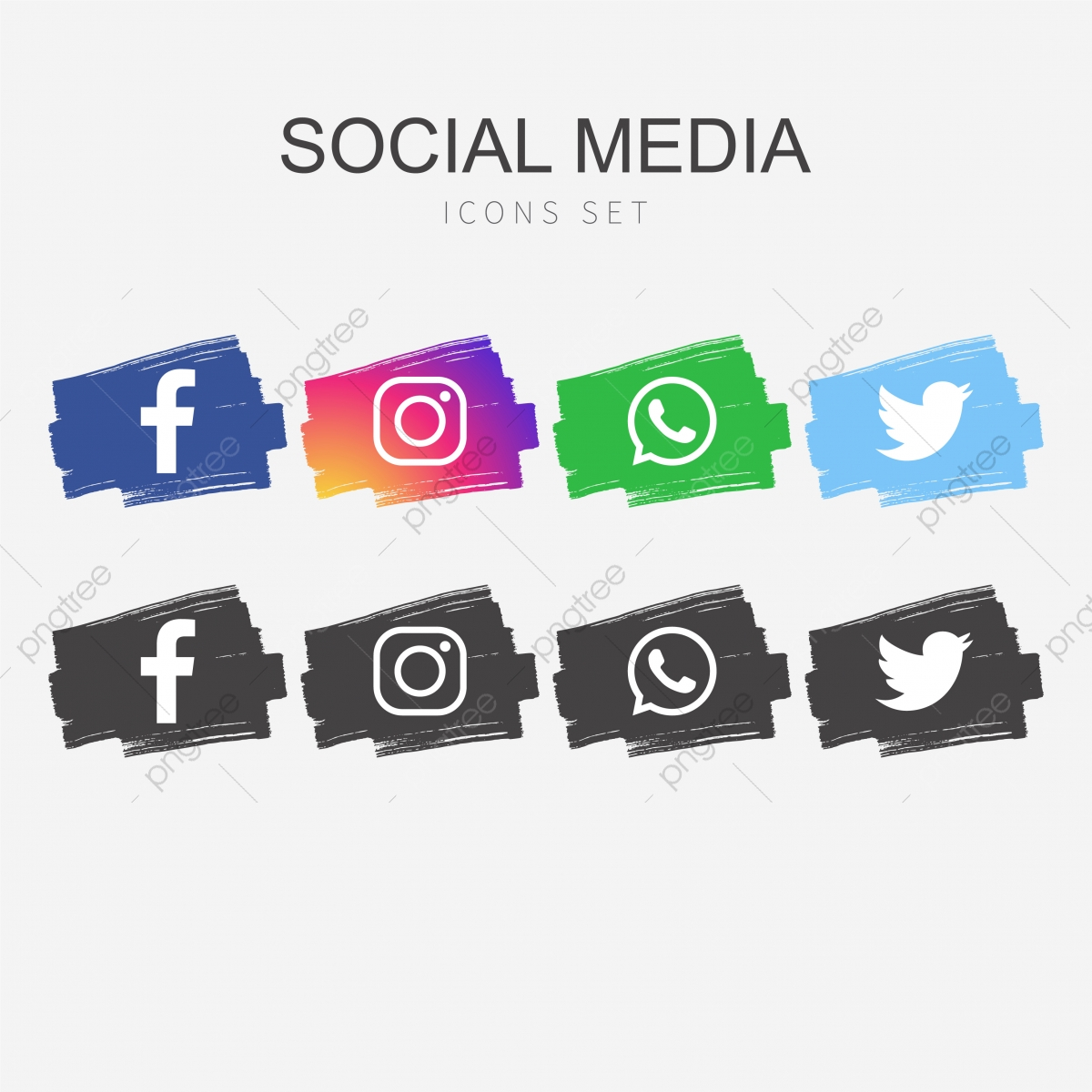 Social Media Icons Free Vector Logo Icon Template Png And