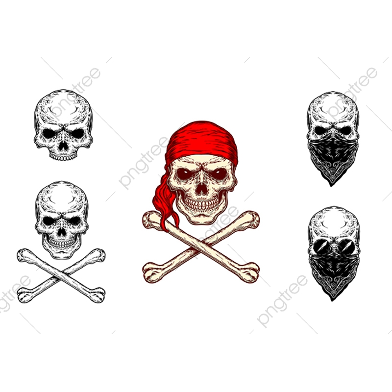 Vector Illustration Of A Skull And Crossbones Skull Crossbones Bandana Png And Vector With Transparent Background For Free Download