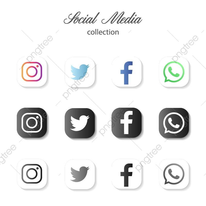 Popular Social Media Icons Logo Icon Template Png And