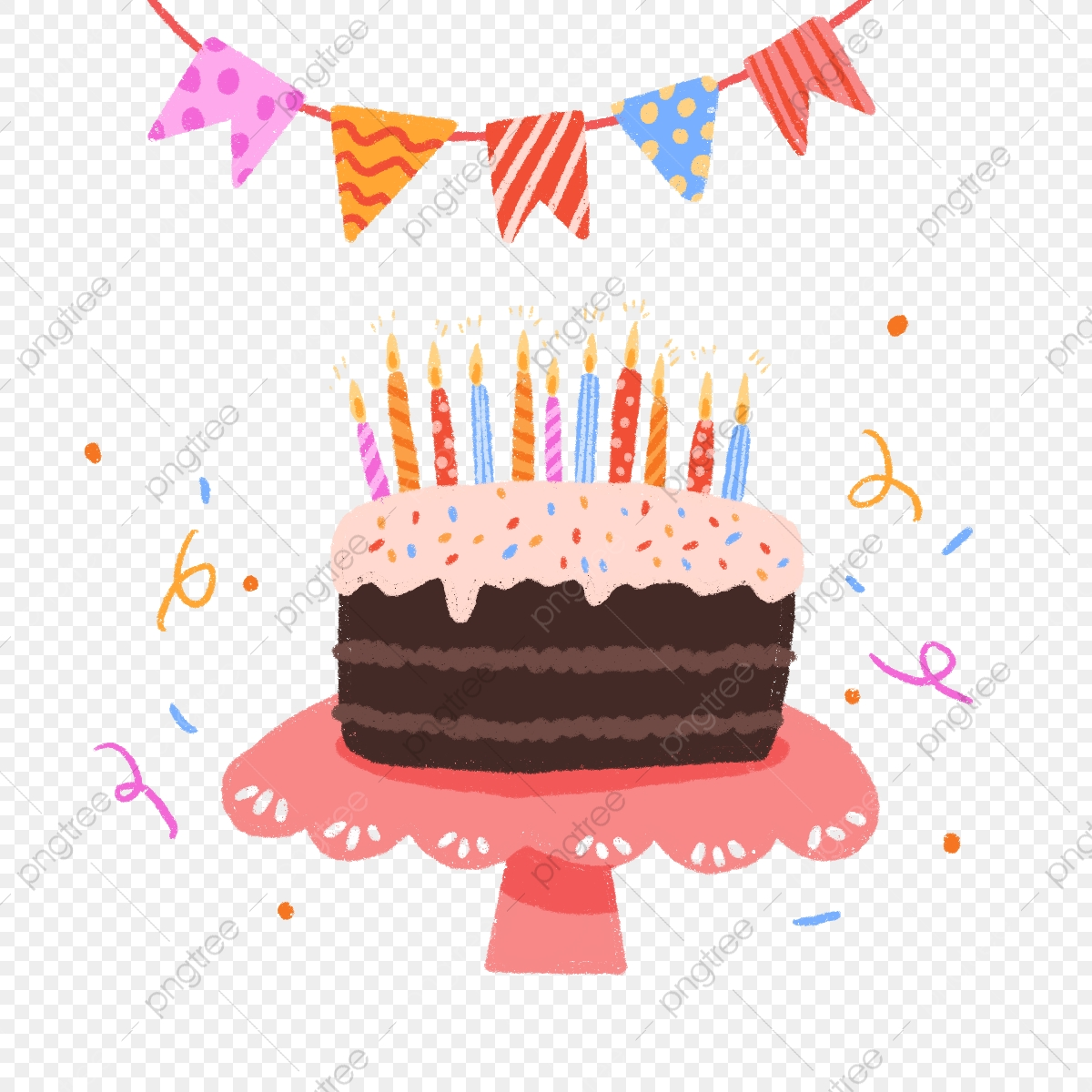 Hand Draw Cute Birthday Cake Cake Hand Drawn Cute Png Transparent Clipart Image And Psd File For Free Download