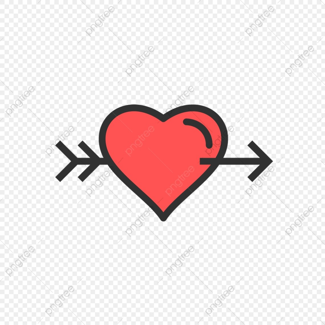Download Vector Heart Cross Arrow Icon, Arrow, Heart, Love PNG and ...