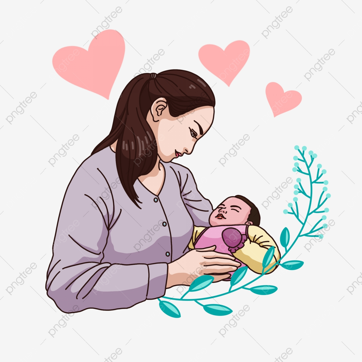Mother Embraces Baby Mother Love Element Mother Mother Love Baby Png Transparent Clipart Image And Psd File For Free Download