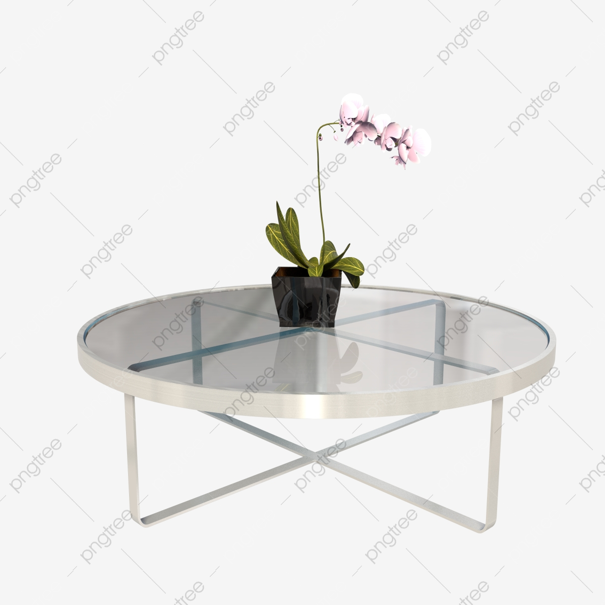 https de pngtree com freepng modern round glass coffee table 4453085 html