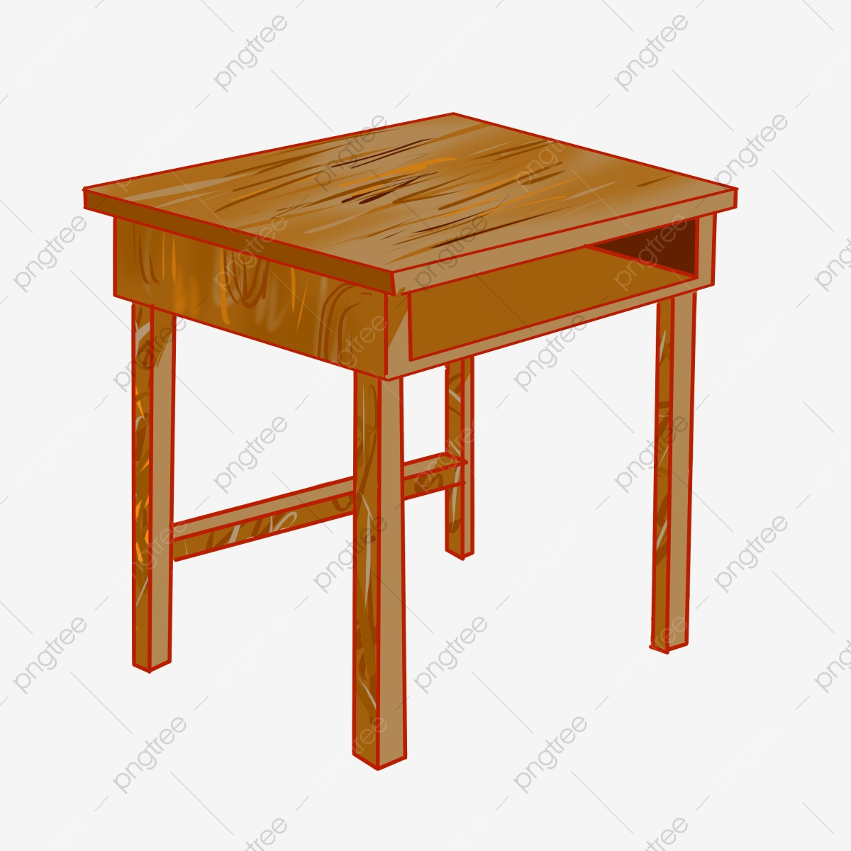 https pngtree com freepng wooden small table cartoon illustration 4572692 html