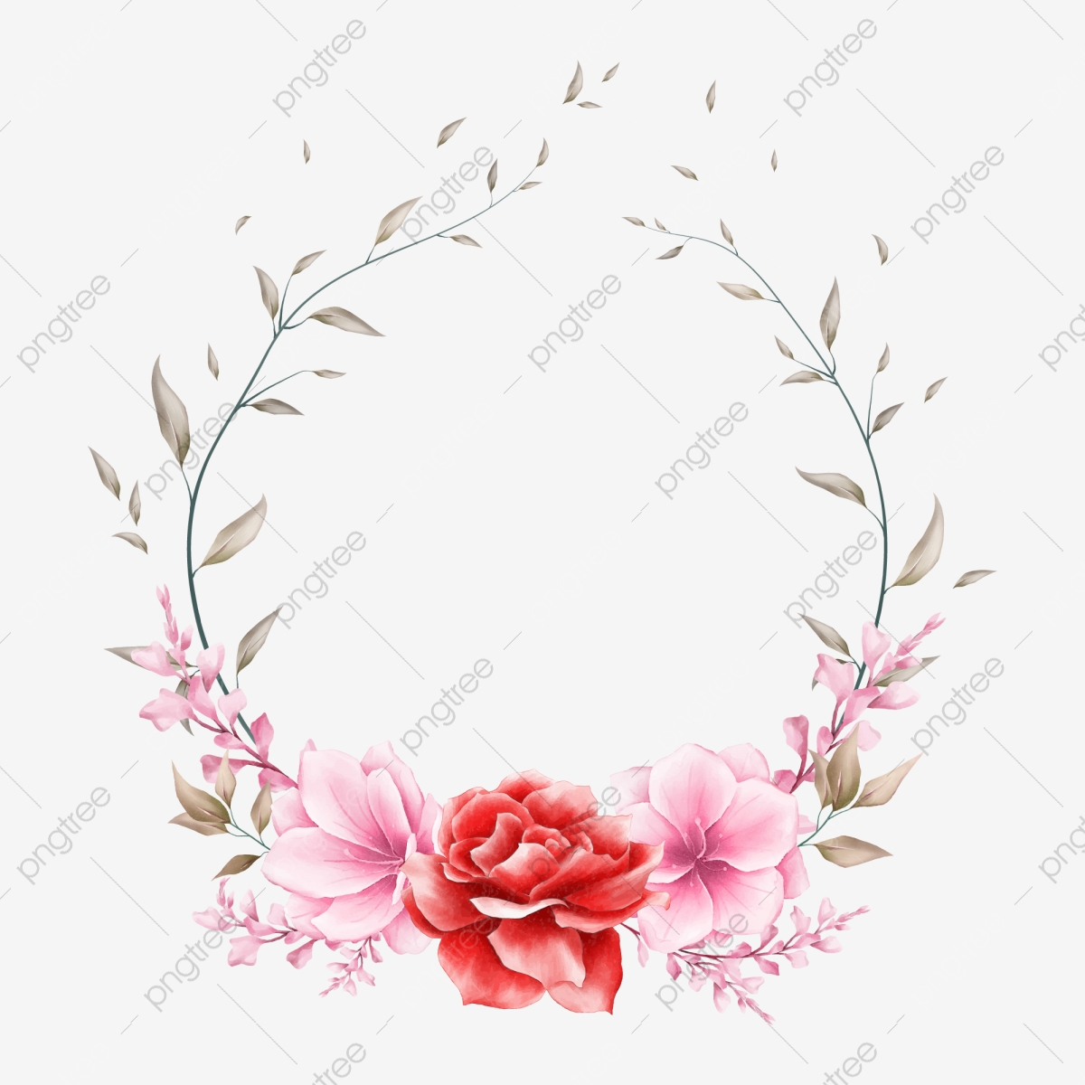 https pngtree com freepng beautiful watercolor floral wreath for wedding invitation cards 4860855 html