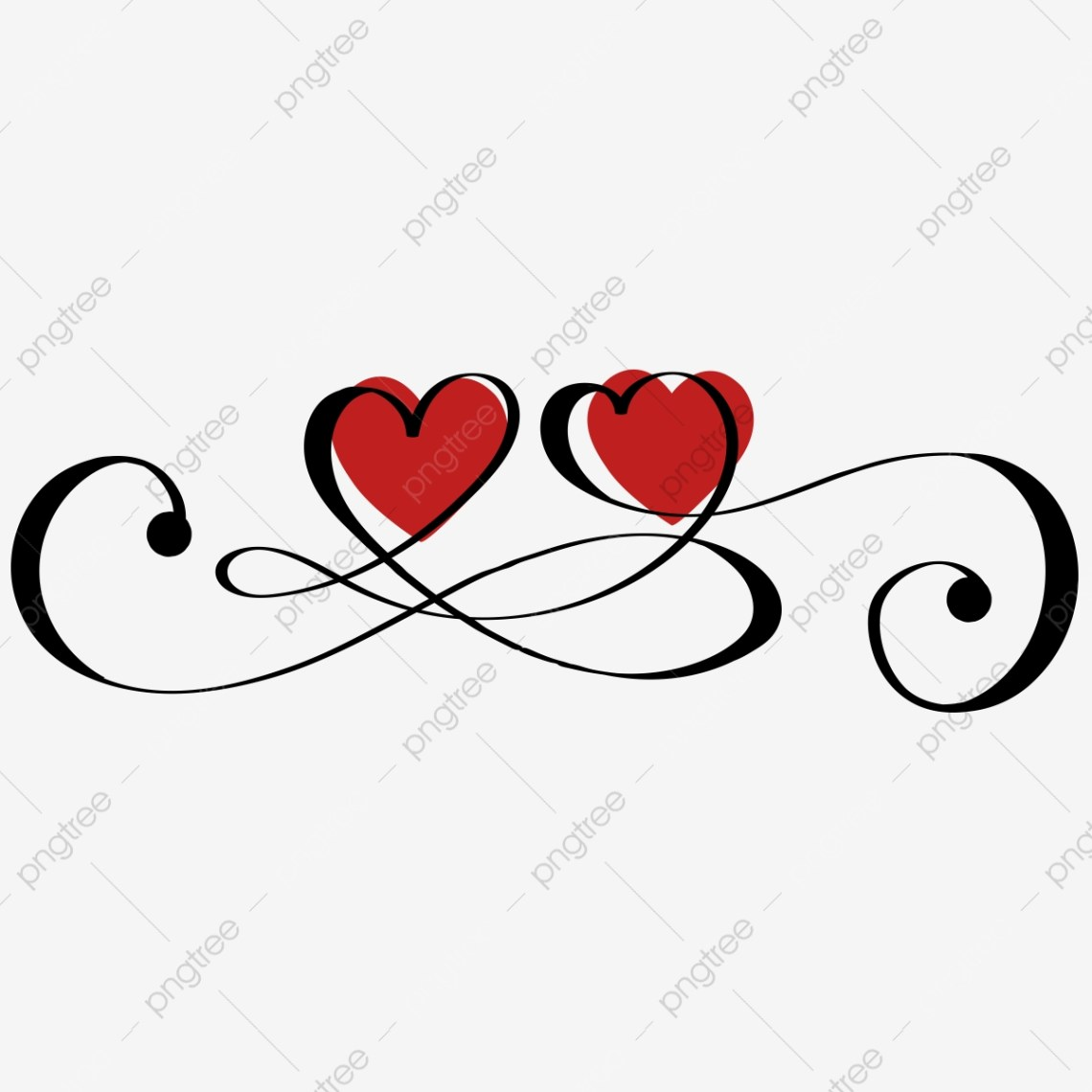 Download Heart Love Infinity With Ornaments Vintage, Heart Love ...