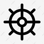 Steering Wheel Line Icon Vector Line Icons Wheel Icons Steering Png And Vector With Transparent Background For Free Download