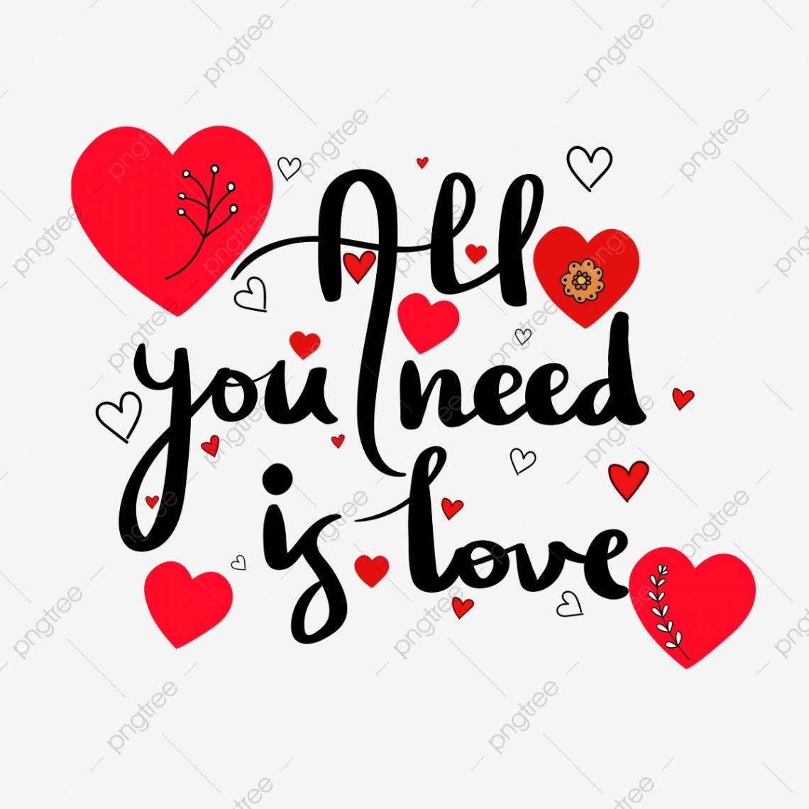 Download All You Need Is Love With Hearts, All You Need Is Love ...