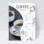 Simple Coffee Shop Menu Design Template Download On Pngtree