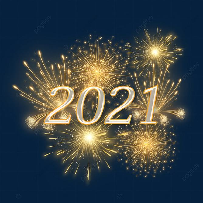 Golden Gorgeous 2021 New Year Fireworks, Golden, Gorgeous, Fireworks PNG Transparent Clipart Image and PSD File for Free Download