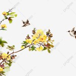 Flower Branch Bird Birdie Bird Spray Png Transparent Image And Clipart For Free Download