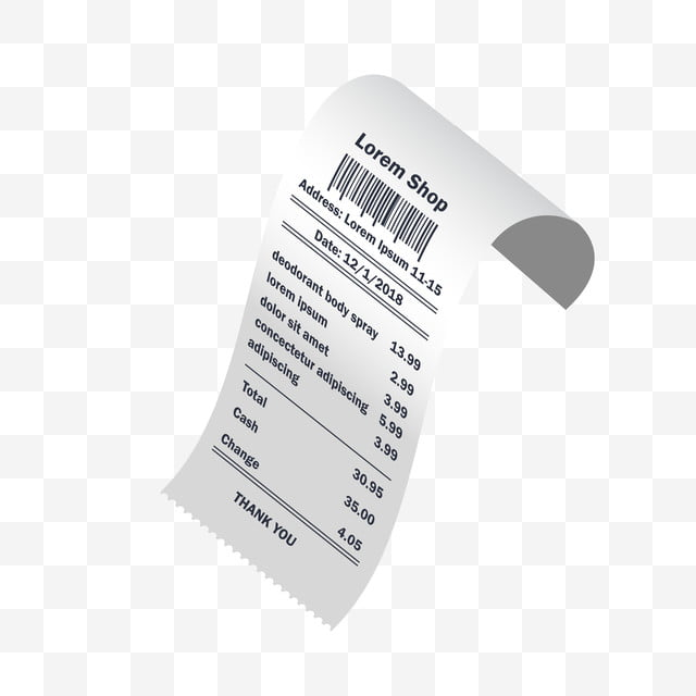 Deodorant Body Spray Receipt Printed Accounting Atm
