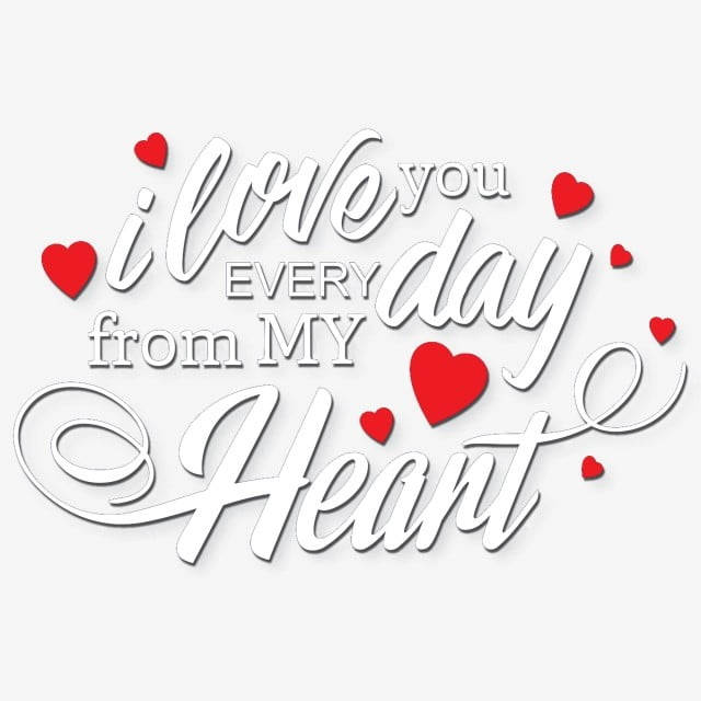 Download I Love You Every Day From My Heart, Mothers Day, Heart ...