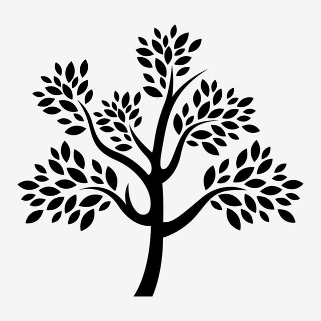 Simple Black Tree Silhouette Tree Clipart Tree Silhouette Tree Silhoutte Png And Vector With Transparent Background For Free Download