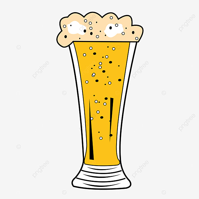 Beer Glass Vector Beer Yellow Glass Png And Vector With Transparent Background For Free Download