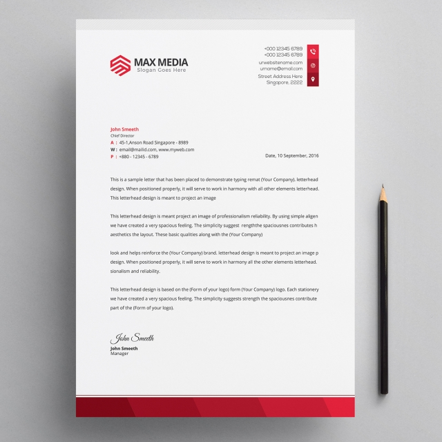 Modern Company Letterhead Psd Template Template For Free Download On Pngtree