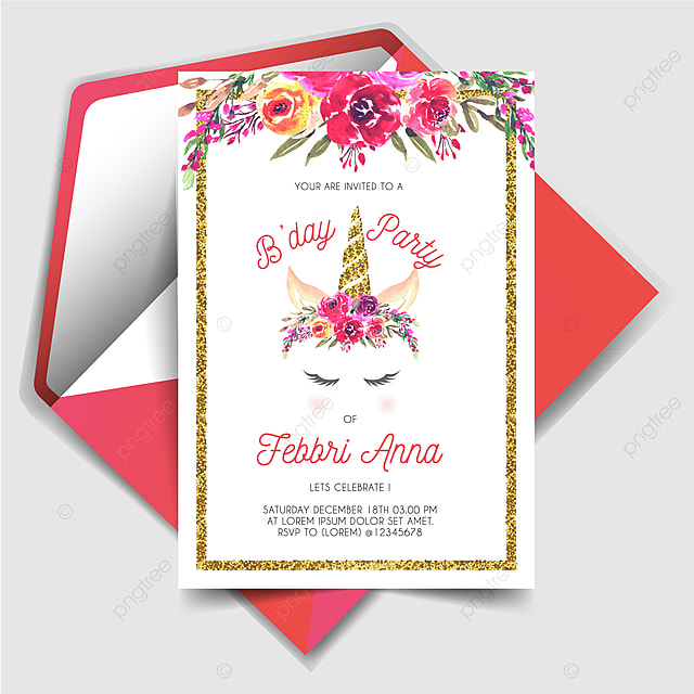 https pngtree com freepng magically unicorn birthday party invitation card 4727975 html