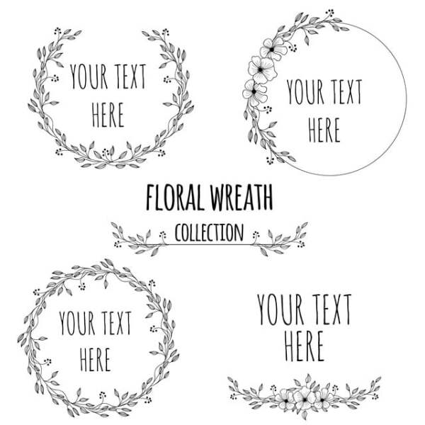 wreath template free # 57