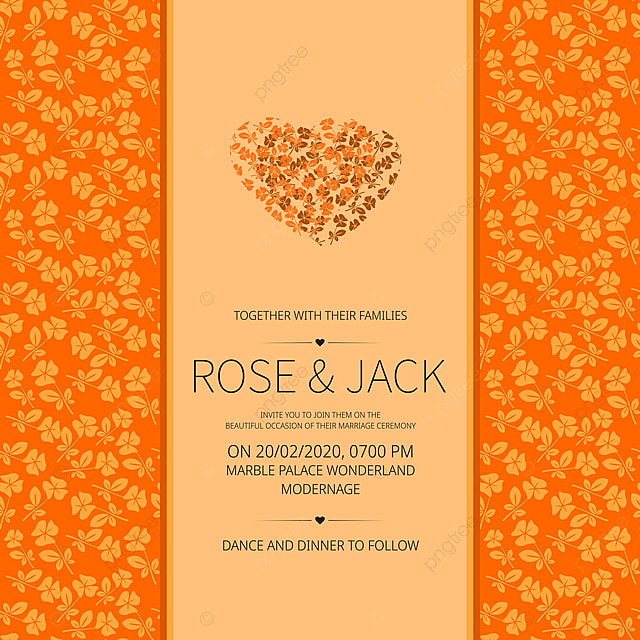 Simple Wedding Invitation Card With