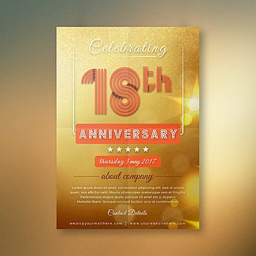Exquisite Design Templates for Free Download on Pngtree 18th comapny anniversary Template