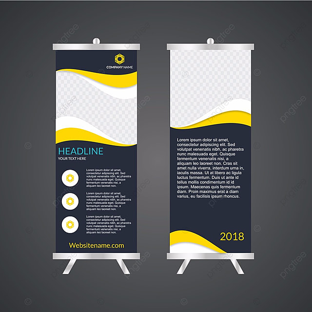 Business Roll Up Standee Design Banner Template Presentation And Brochure Flyer Vector