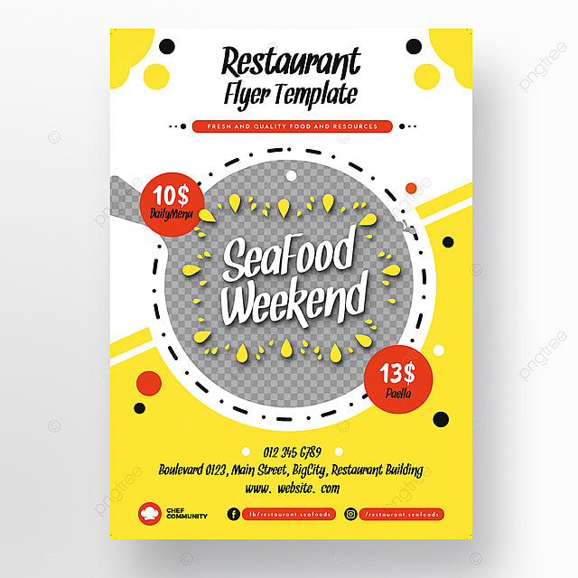 Seafood Restaurant Flyer Template Template For Free Download On Pngtree