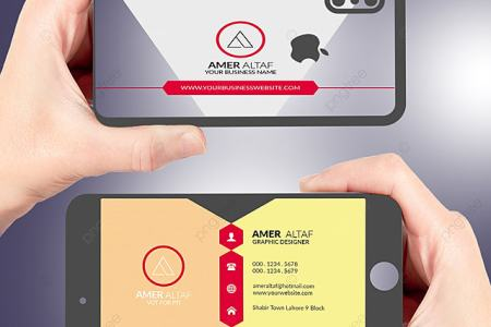 Iphone Business card latest visiting card design psd free template     Iphone Business card latest visiting card design psd free template Template