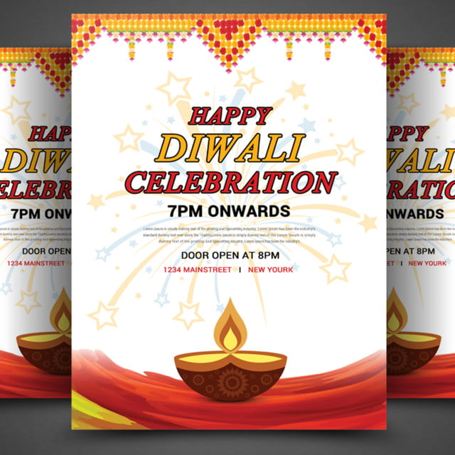Happy Diwali Flyer Template For Free Download On Pngtree