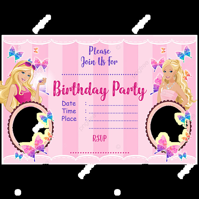 https pngtree com freepng barbie birthday invitation card 3721228 html