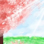 Cherry Blossom Background Anime Background Wallpaper Download April Is Your Lie There Are Ma Gongsheng Gongyuan Xun Background Image For Free Download