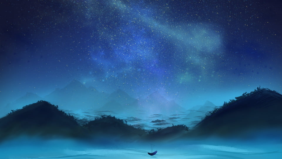 https fr pngtree com freebackground blue distant mountain starry background material 917749 html