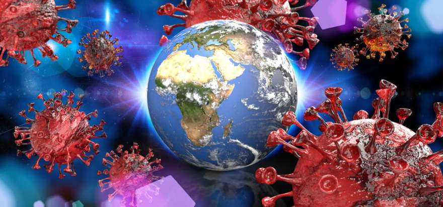 Flu Ncov Coronavirus Over Earth Background And Its Blurry Hologram The  Concept Of Drug Discovery And The Spread Of Disease 3d Rendering, Corona  Virus, Bacterium, Microscopic Background Image for Free Download