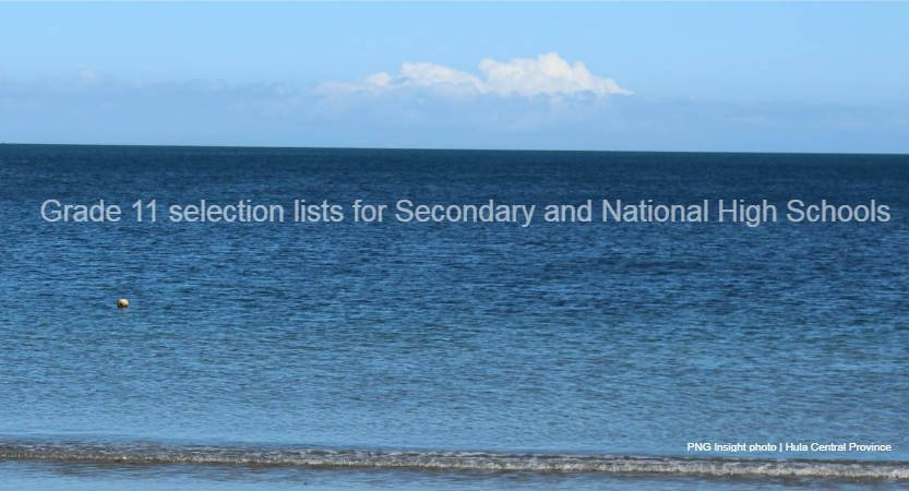 Grade 11 selection list updated