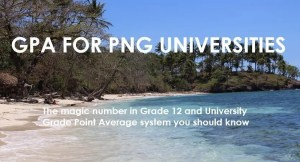 GPA for PNG Universities Student Information