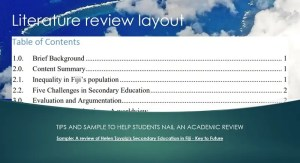 How to write a literature review – Layout and sample