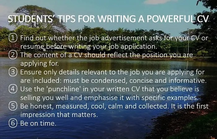 cv and job interview tips