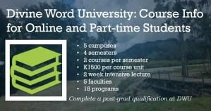 Online University Courses Divine Word University