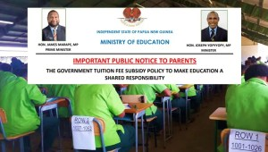 Read more about the article PNG Government Tuition Fee Subsidy Policy 2020
