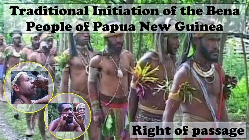 PNG Tribe Nose-bleeding and Cane Swallowing Rituals